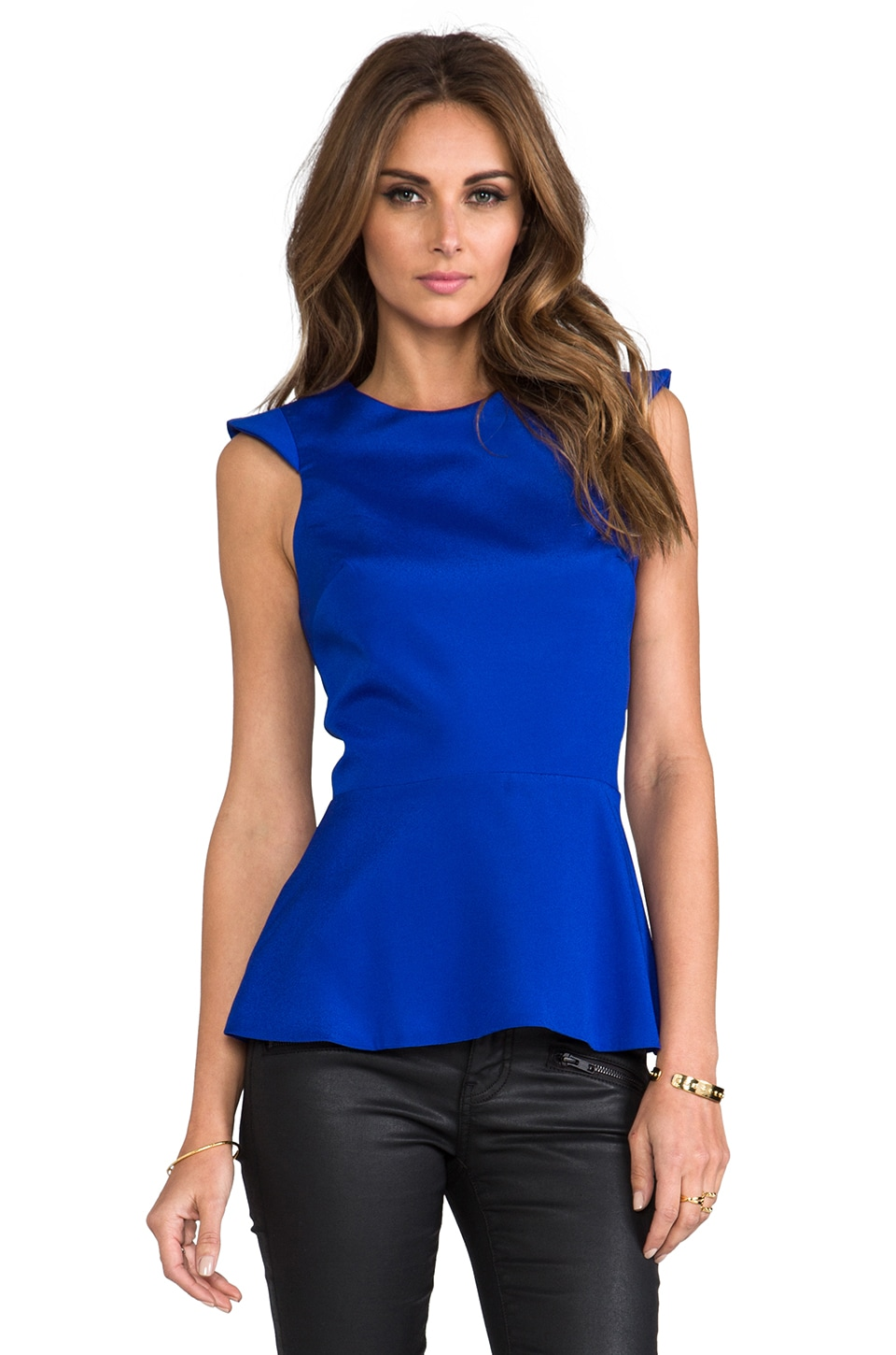 Naven Amour Blouse in Vegas Blue