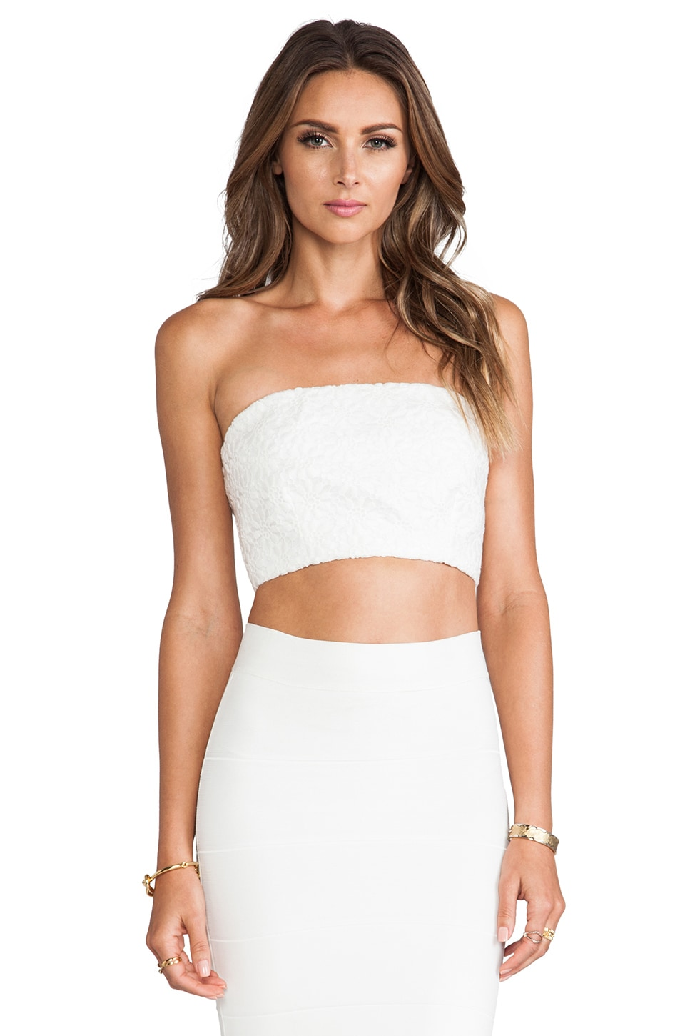Naven Tube Top in Ivory