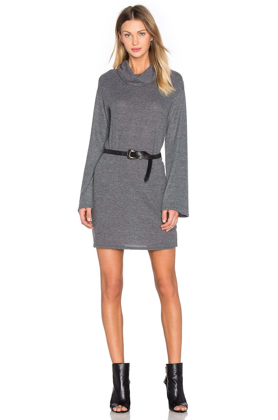 Funnel Neck Long Sleeve Dress by NYTT