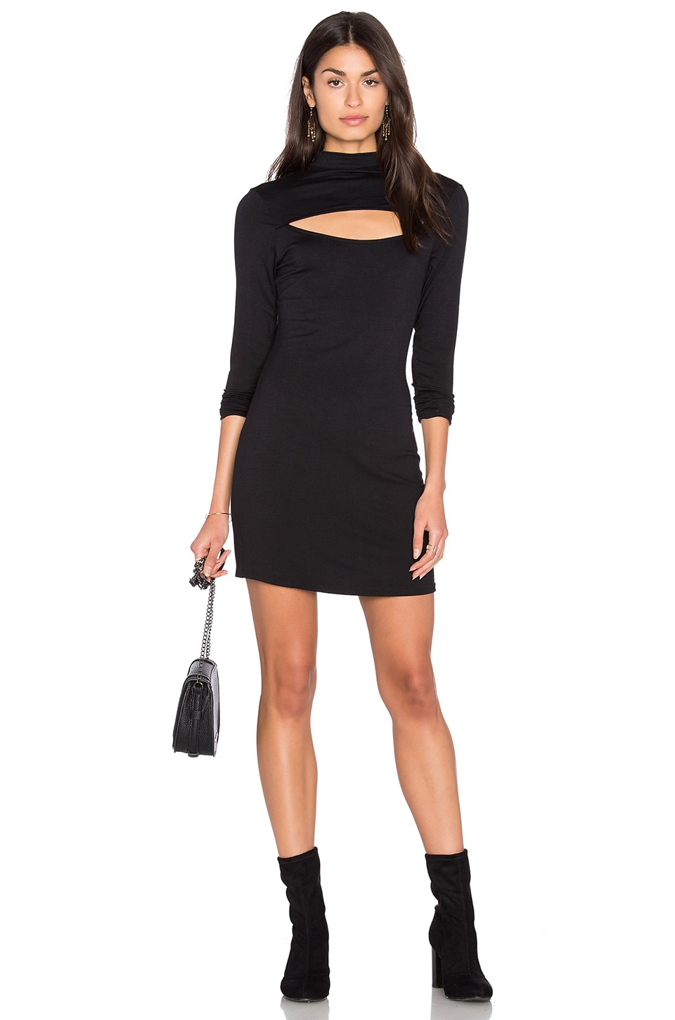 High Neck Open Front Dress by NYTT