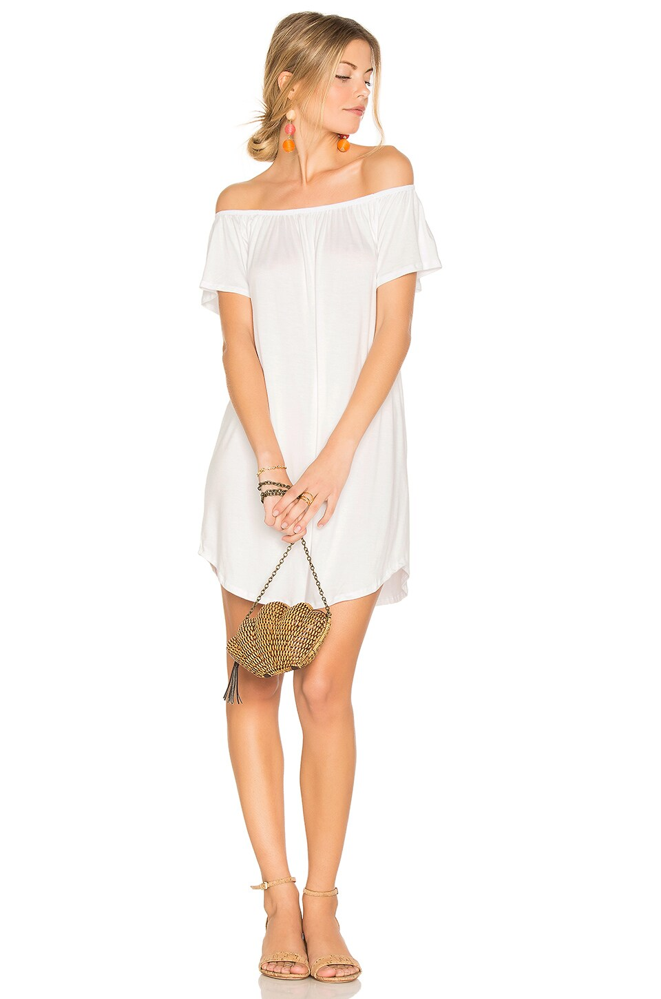 NYTT Milan Off The Shoulder Dress in White