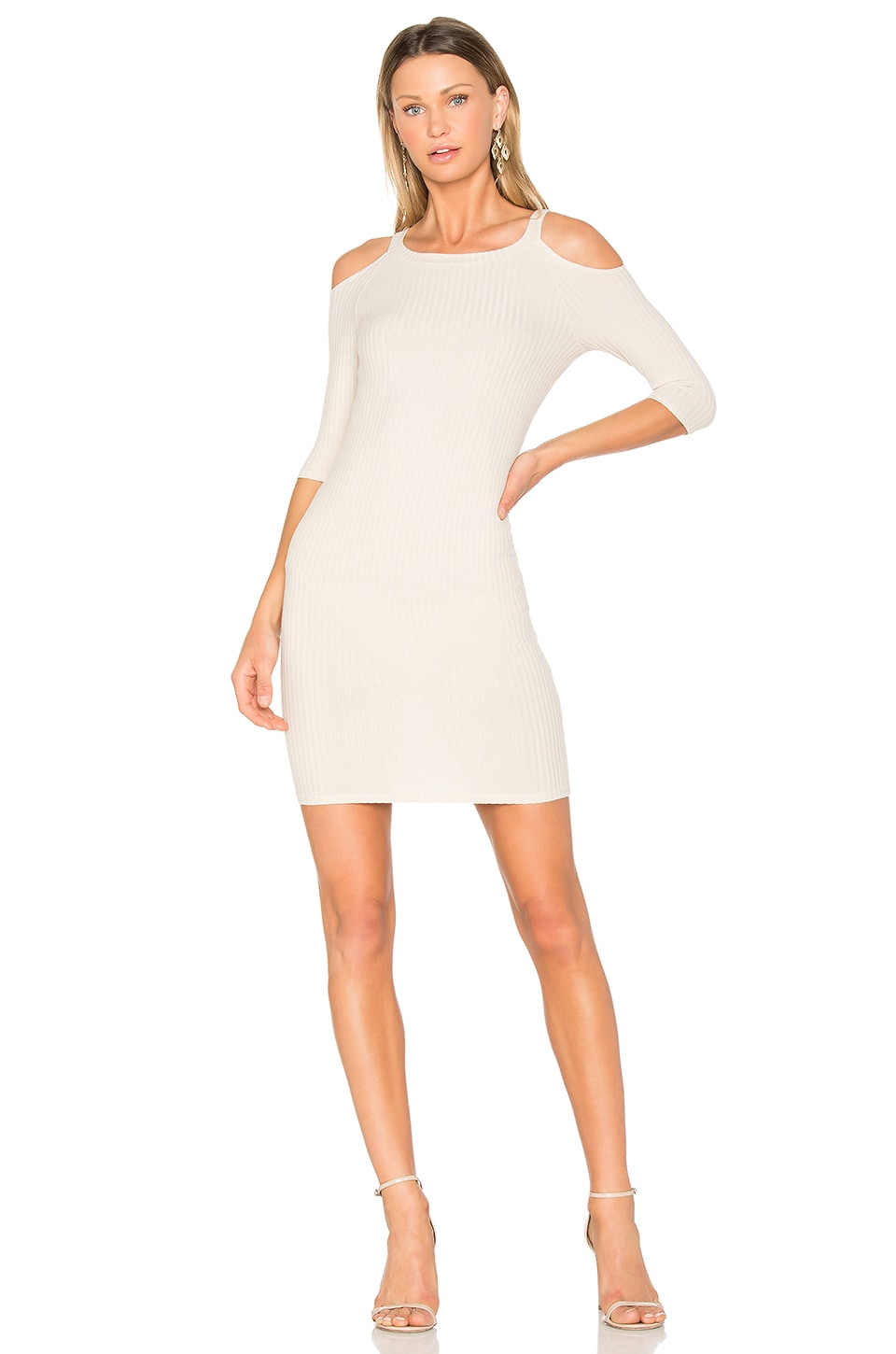 NYTT Cold Shoulder Dress in Sand
