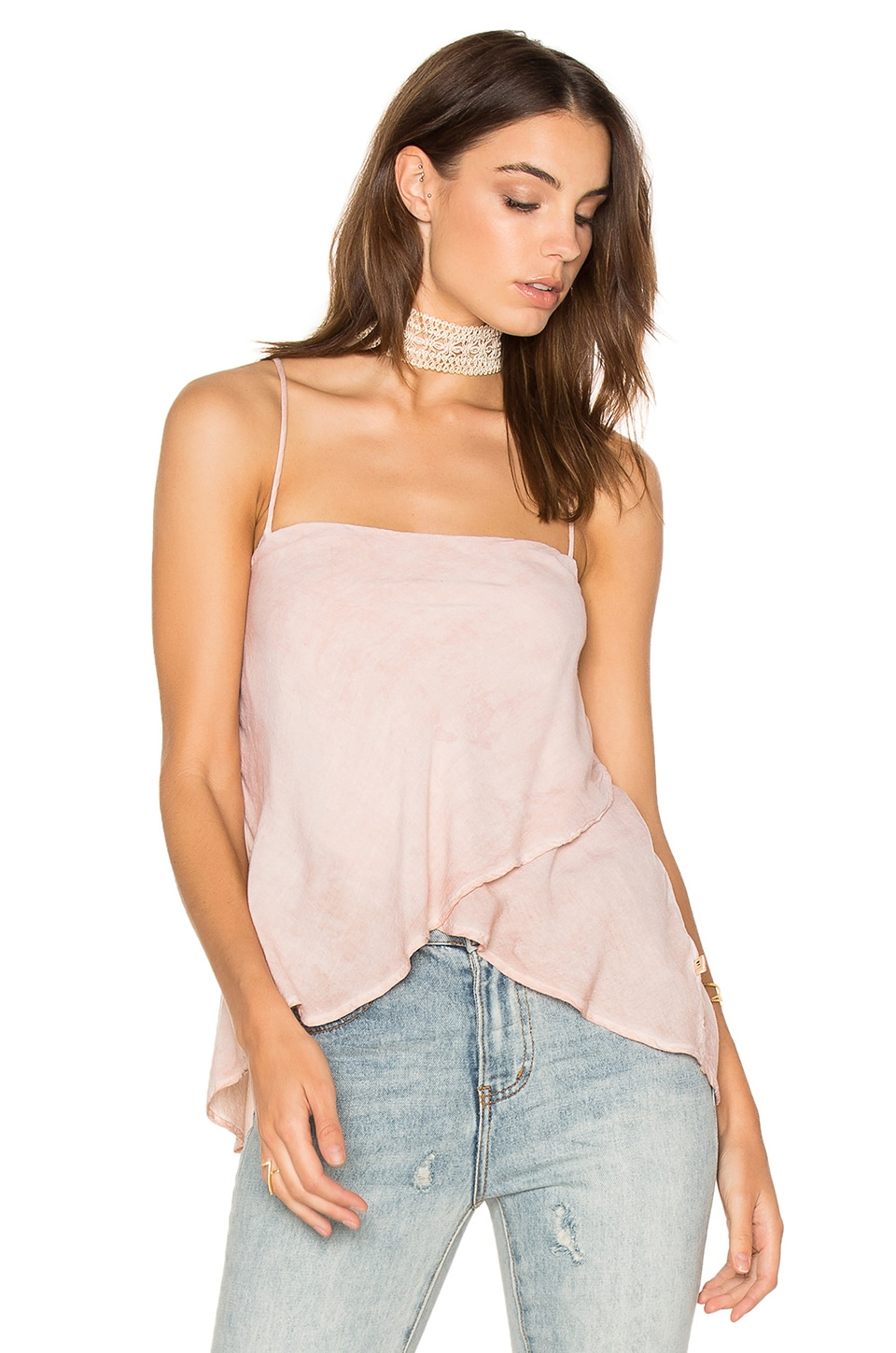 NYTT Layered Cami in Blush Sand Oil Wash