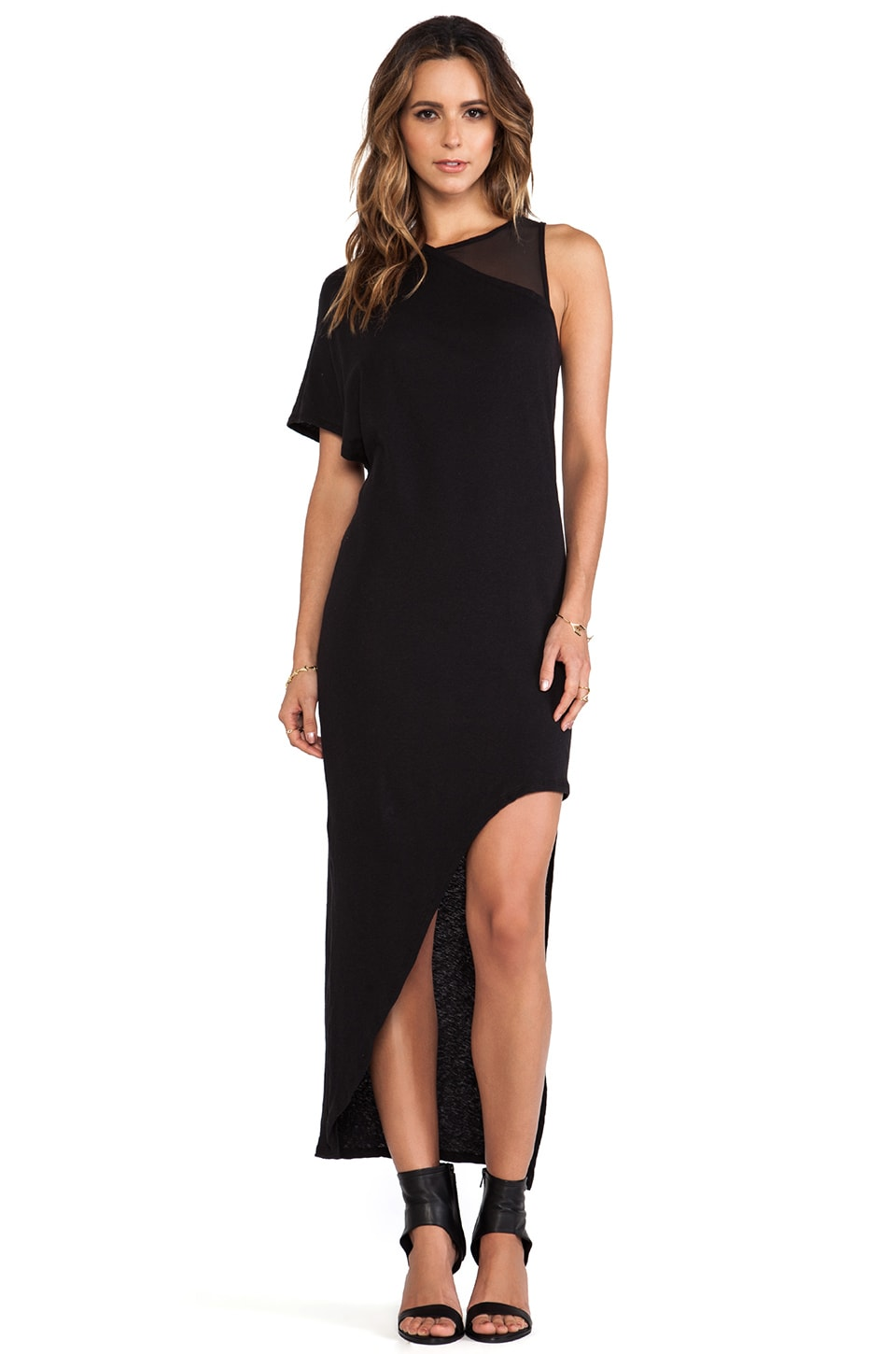 OAK Hidden Tank Dress in Black