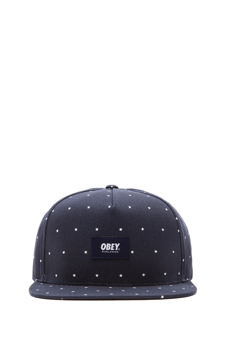 Obey Franklin Snapback in Navy