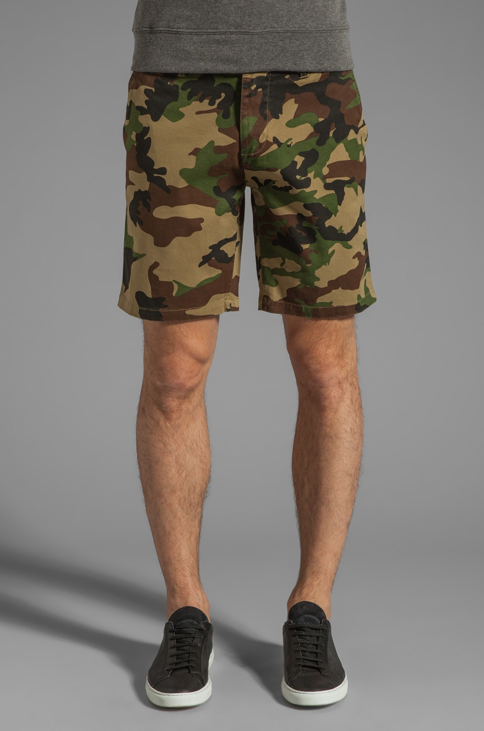 Obey Tracks Short in Field Camo