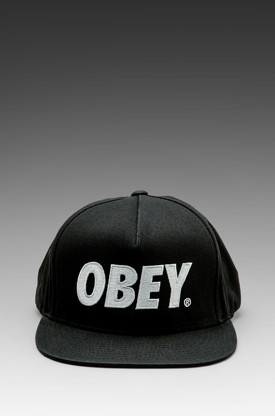 Obey The City Snapback Hat in Black