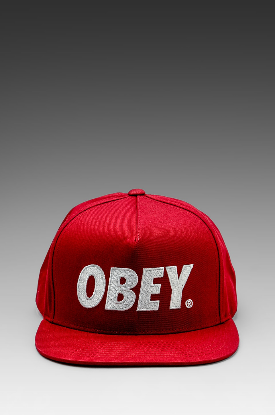 Obey The City Snapback Hat in Burgundy
