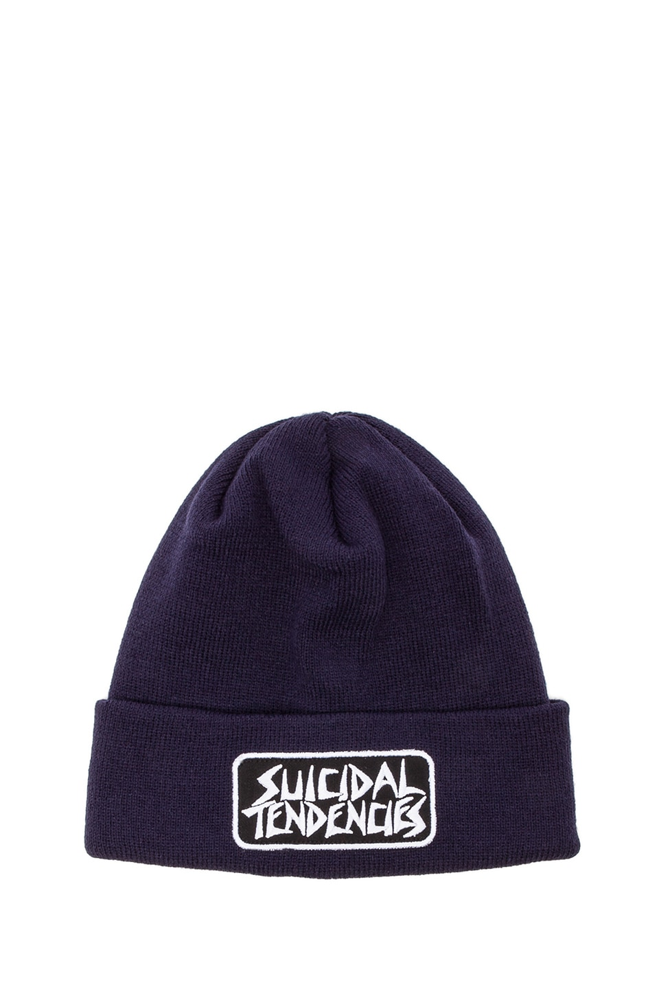 Obey x Suicidal Tendencies Collection Propaganda Beanie in Navy