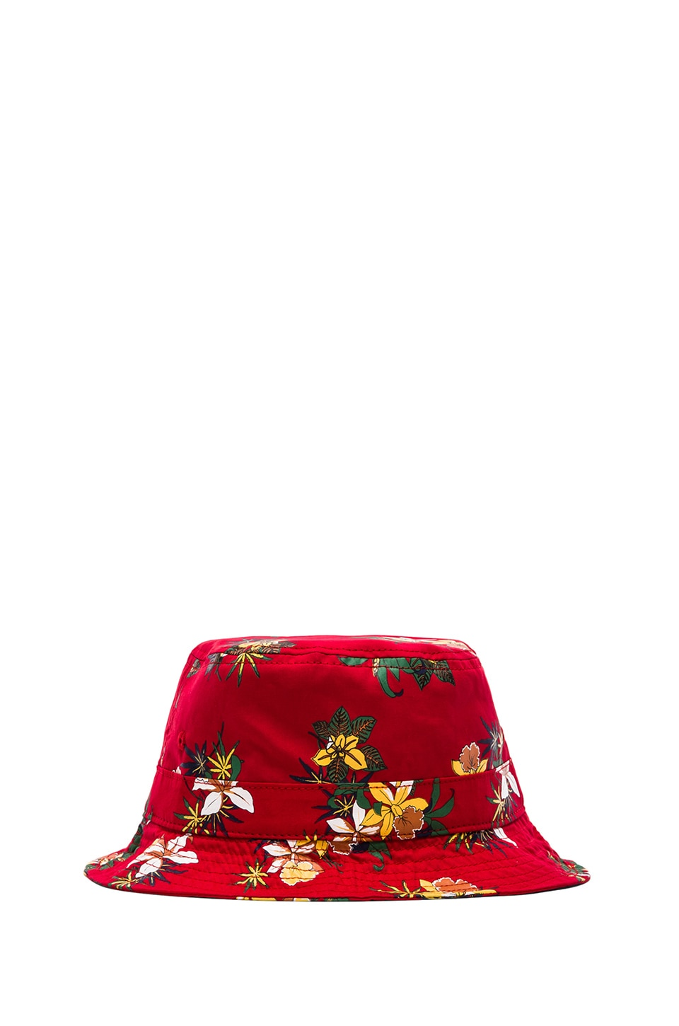 Obey Sativa Floral Bucket Hat in Red
