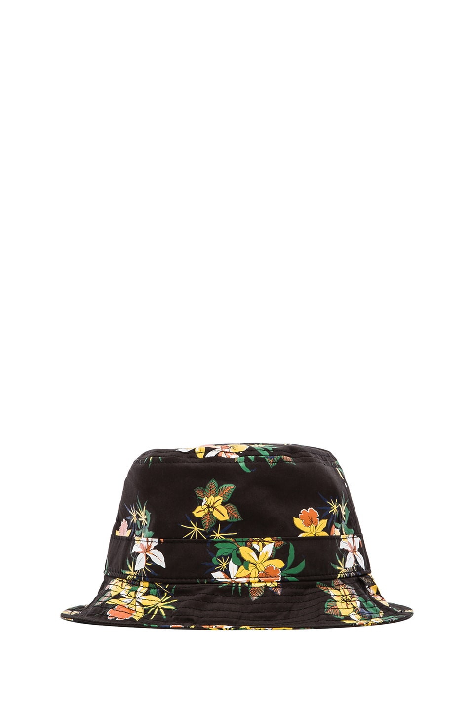 Obey Sativa Floral Bucket Hat in Black