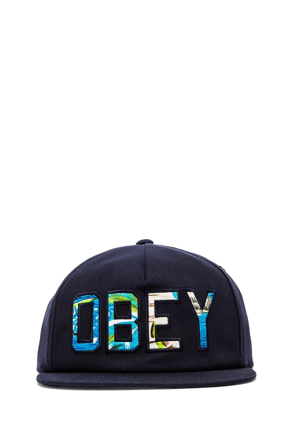 Obey Wharf Hat in Navy