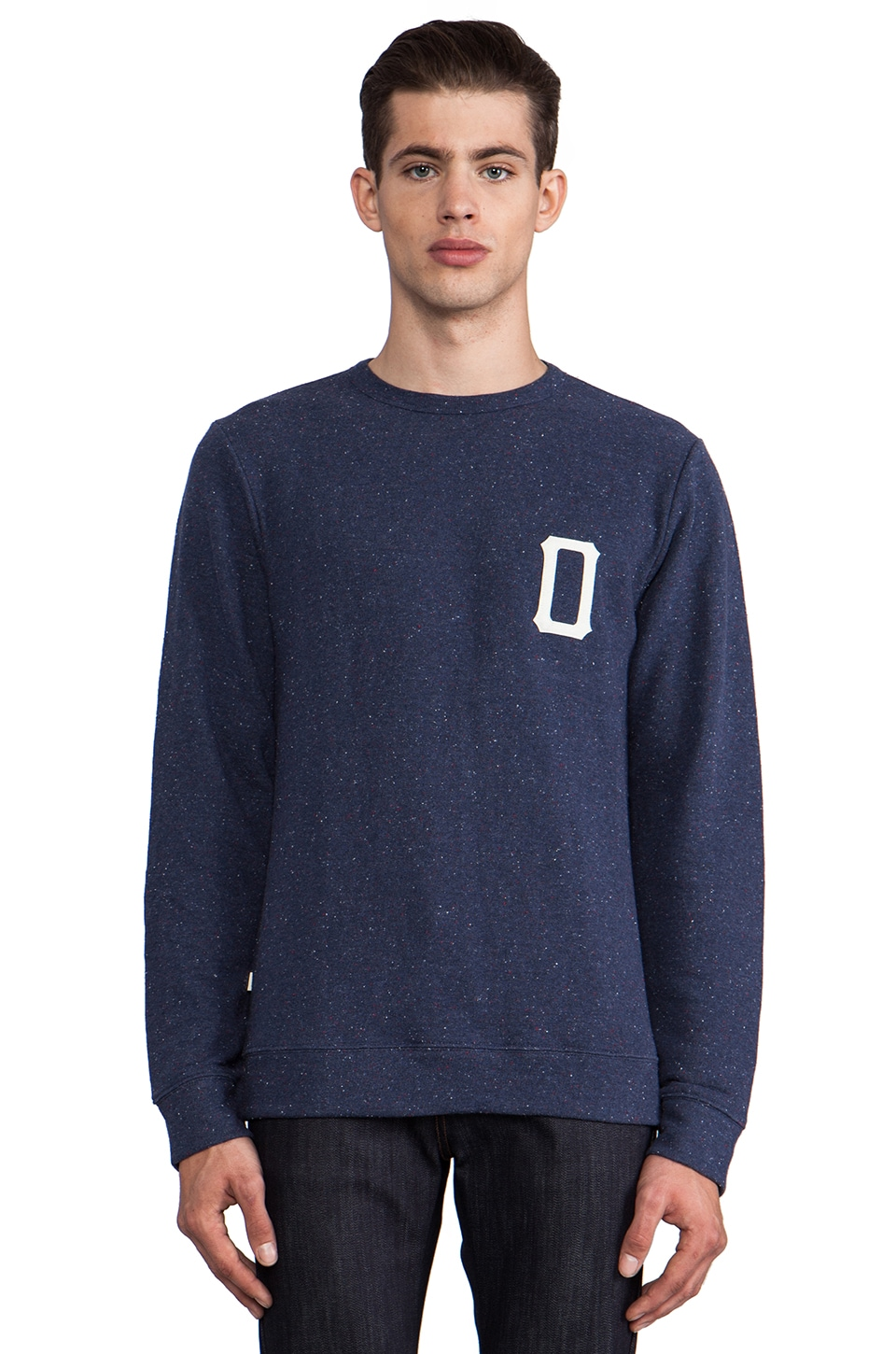 Obey Hitter Pullover in Heather Indigo