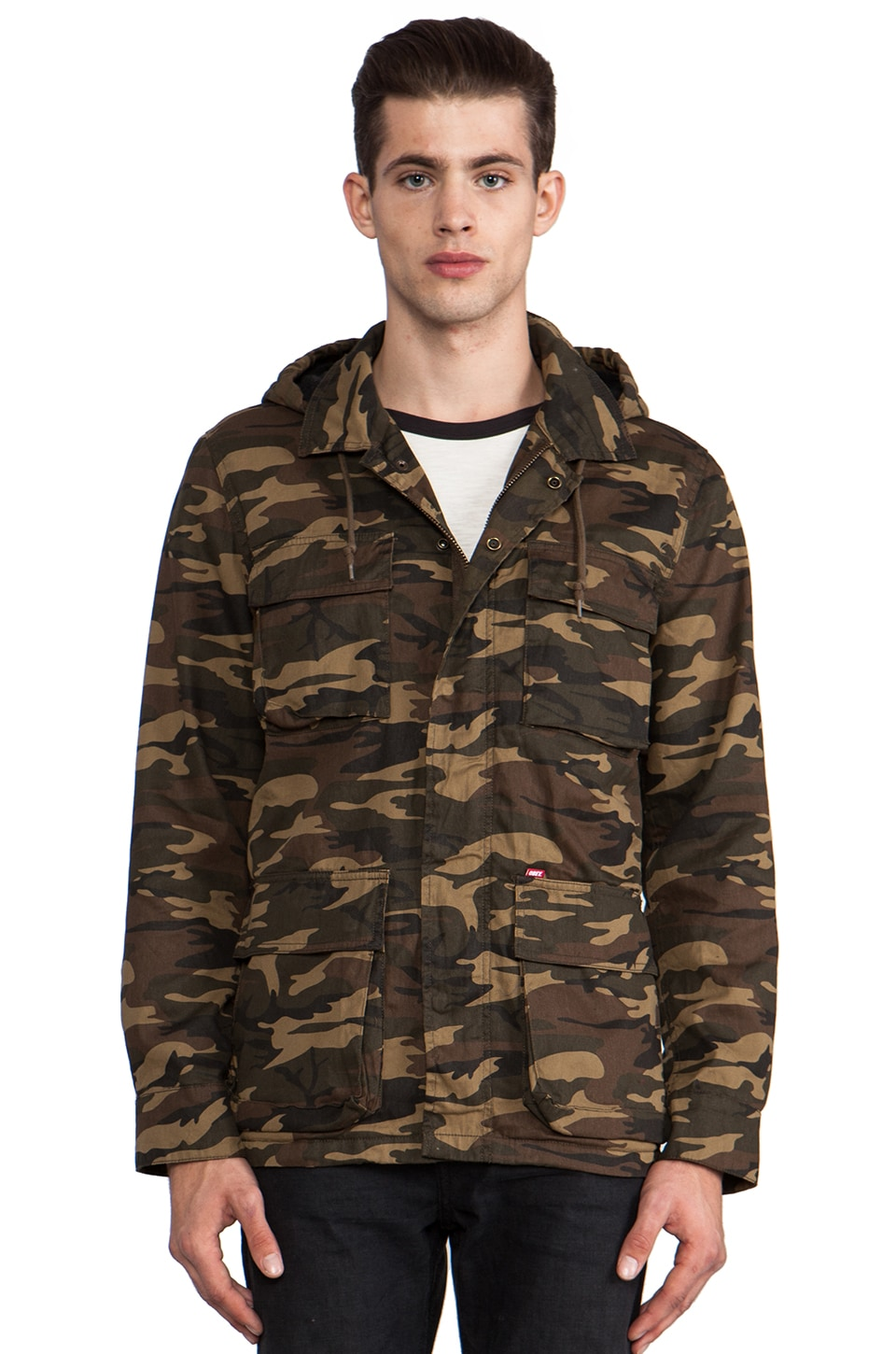 Obey Fields Jacket en Camouflage