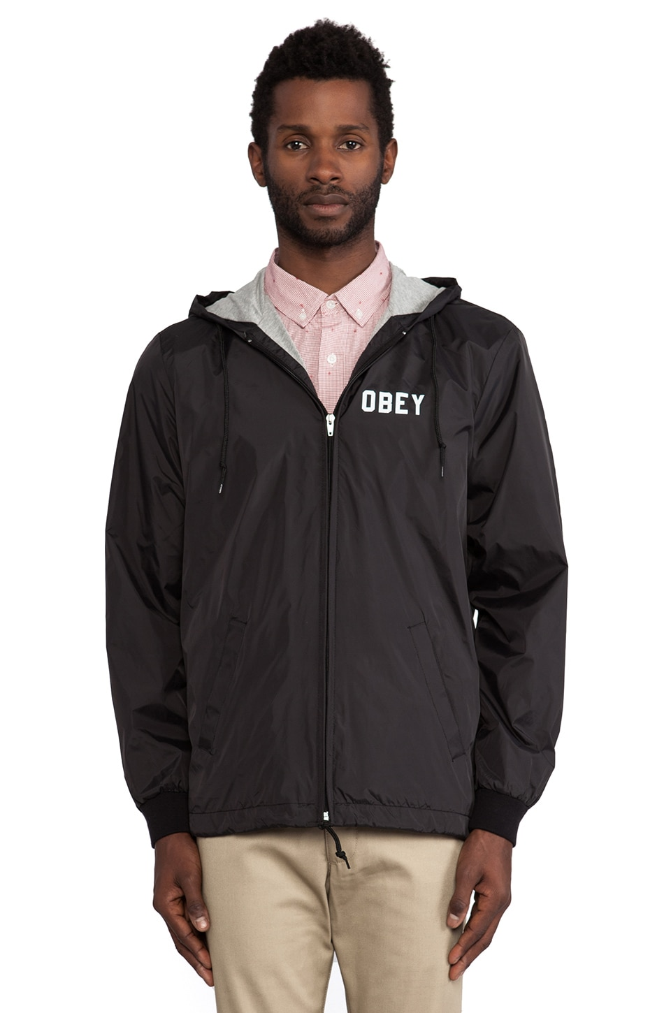 Obey Nation Jacket in Black