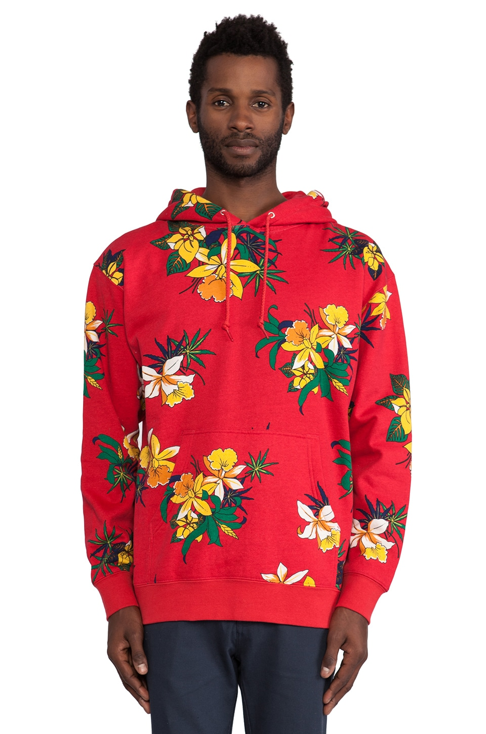 Obey Aloha Pullover in Red