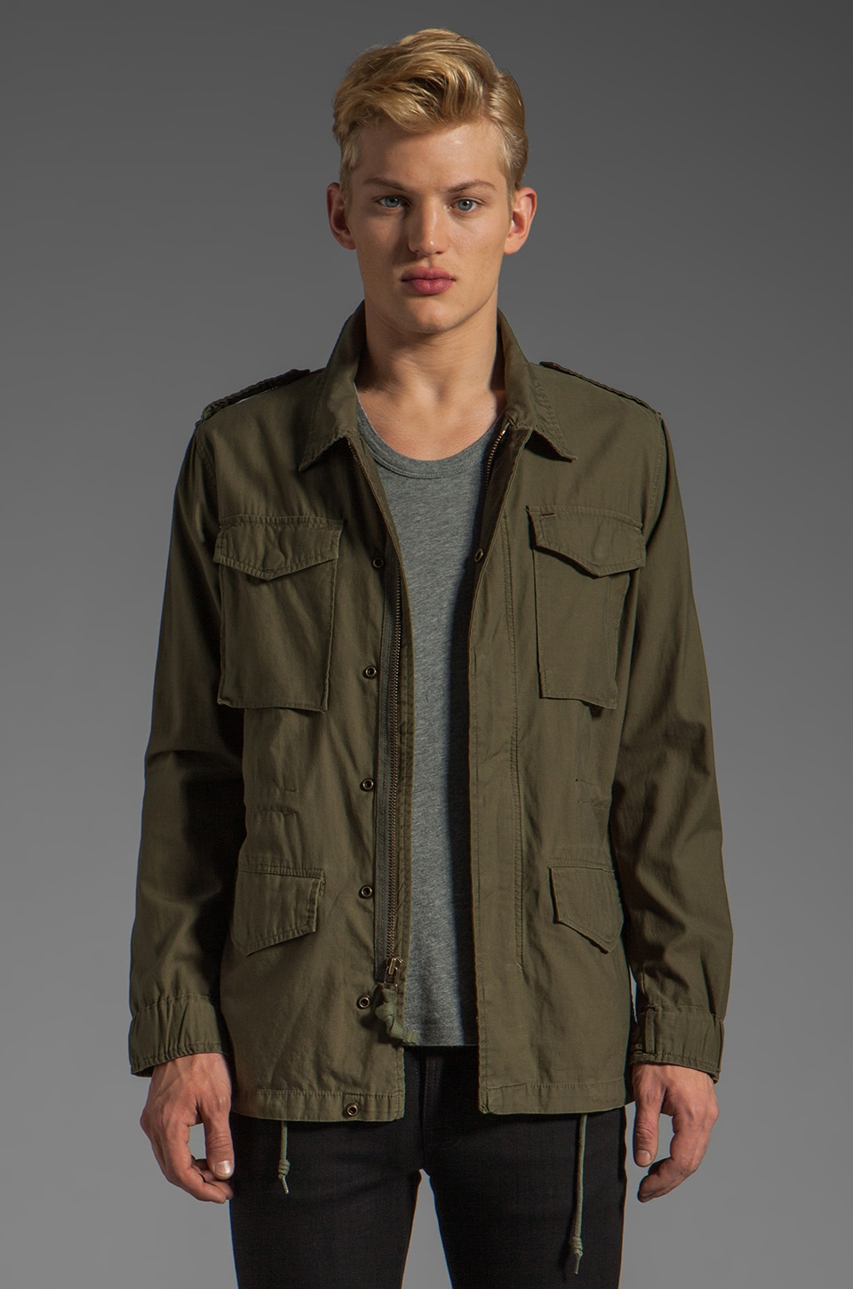 Obey Downtown Iggy Jacket in Army