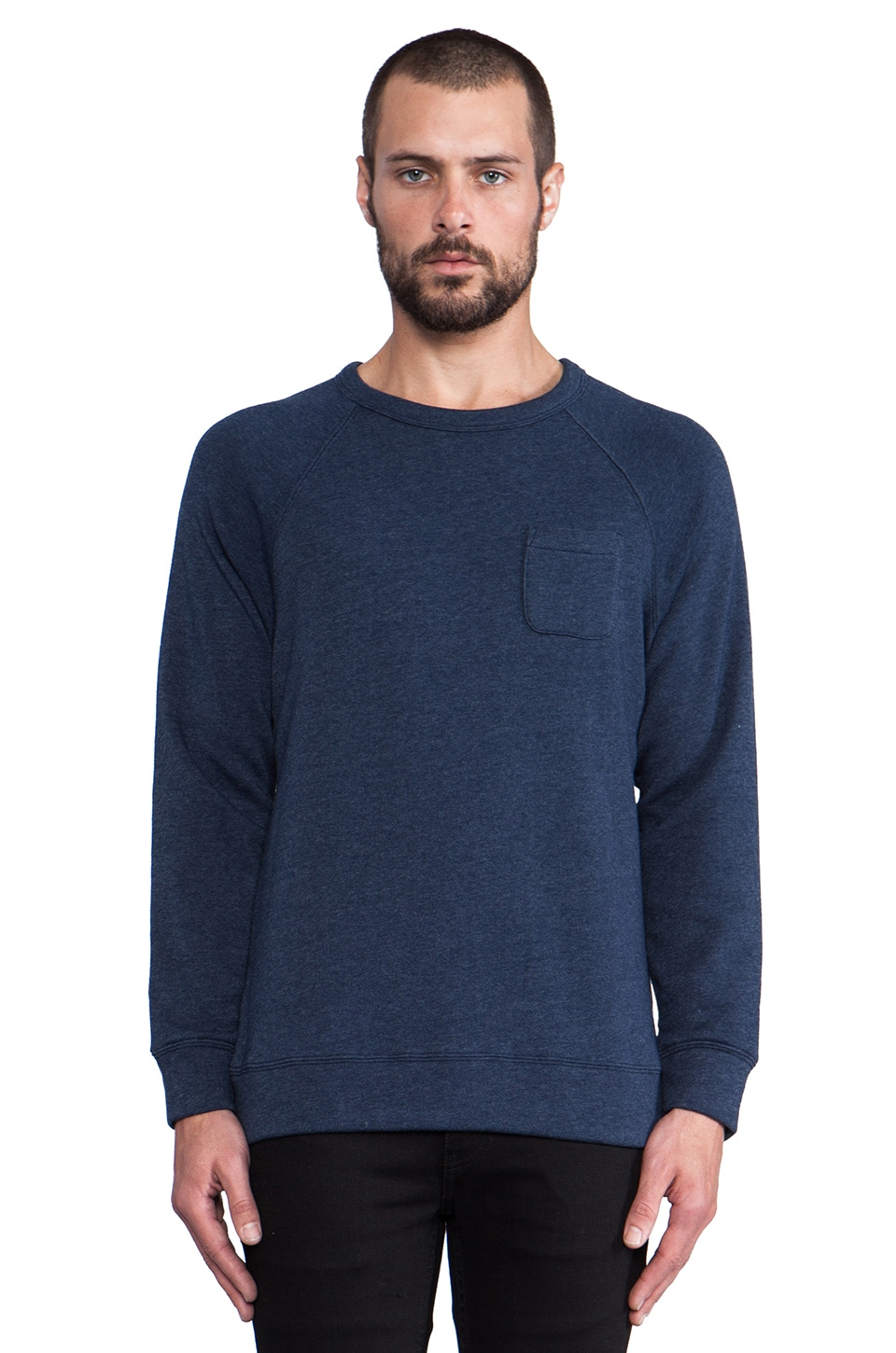 Obey Lofty Creature Comforts Crew Pullover Sweatshirt in Dark Navy