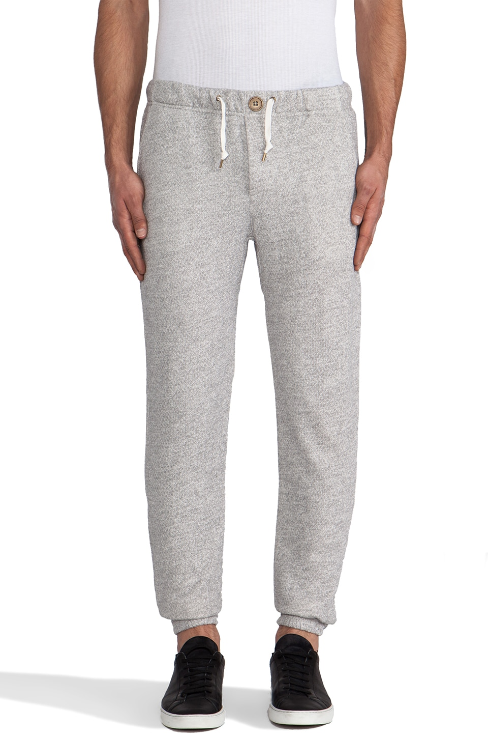 Obey Bowen Fleece Pants in Heather Grey