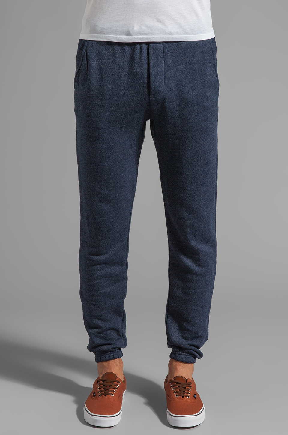 Obey Bowen Fleece Pants in Dark Navy