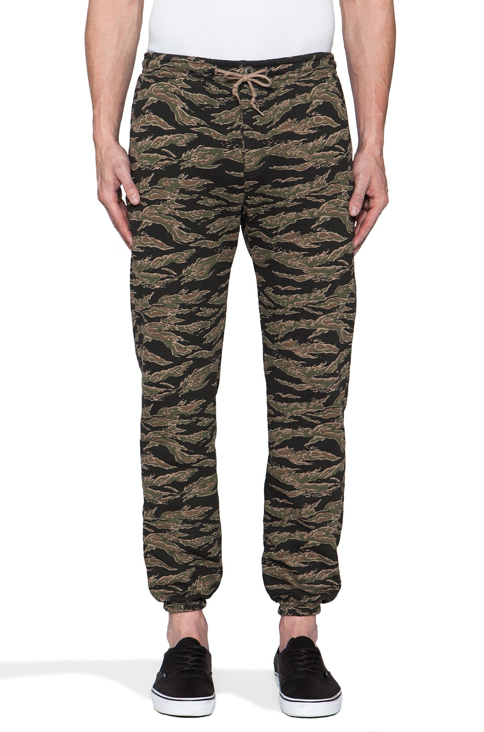 Obey Quality Dissent Fleece Pant in Tiger Camo