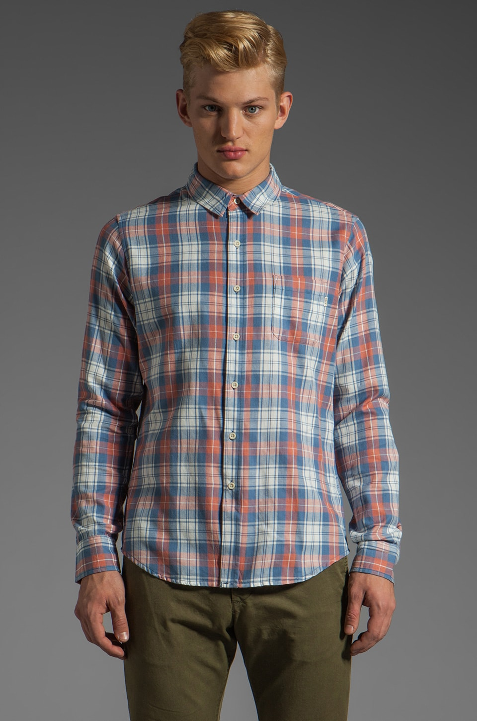 Obey Holten Shirt in Blue
