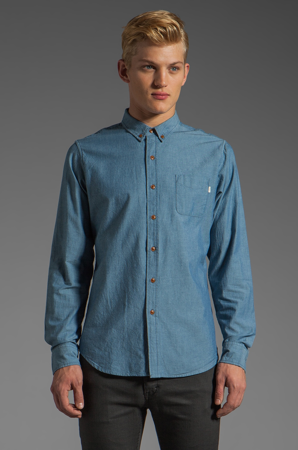 Obey Elden Shirt in Indigo