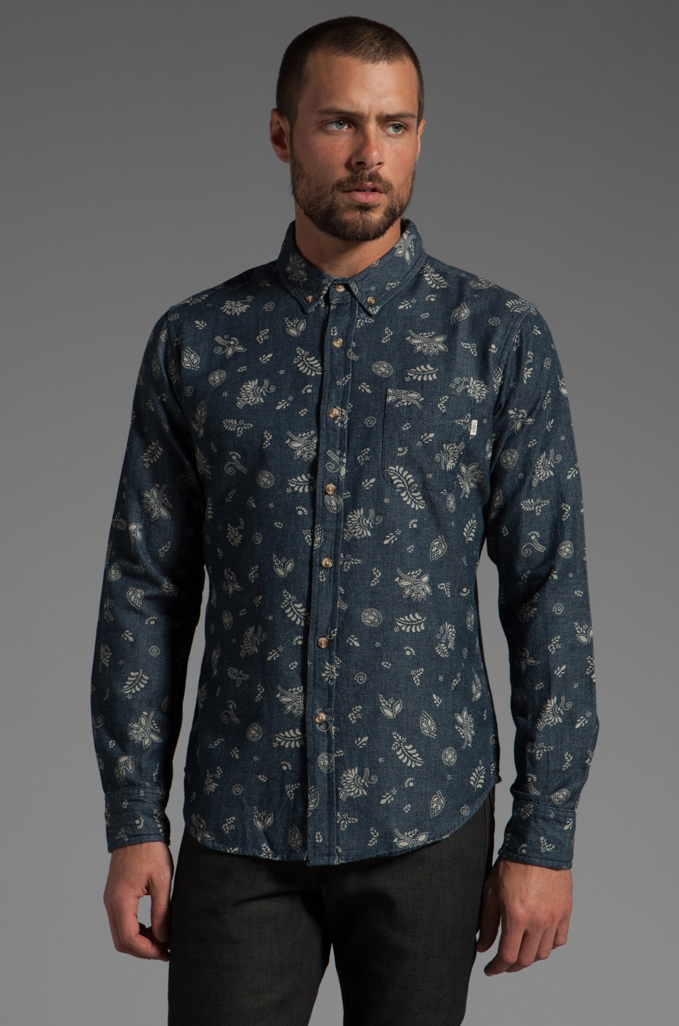 Obey Dharma Shirt in Indigo
