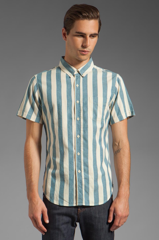 Obey Dreamer Short Sleeve Shirt in Indigo