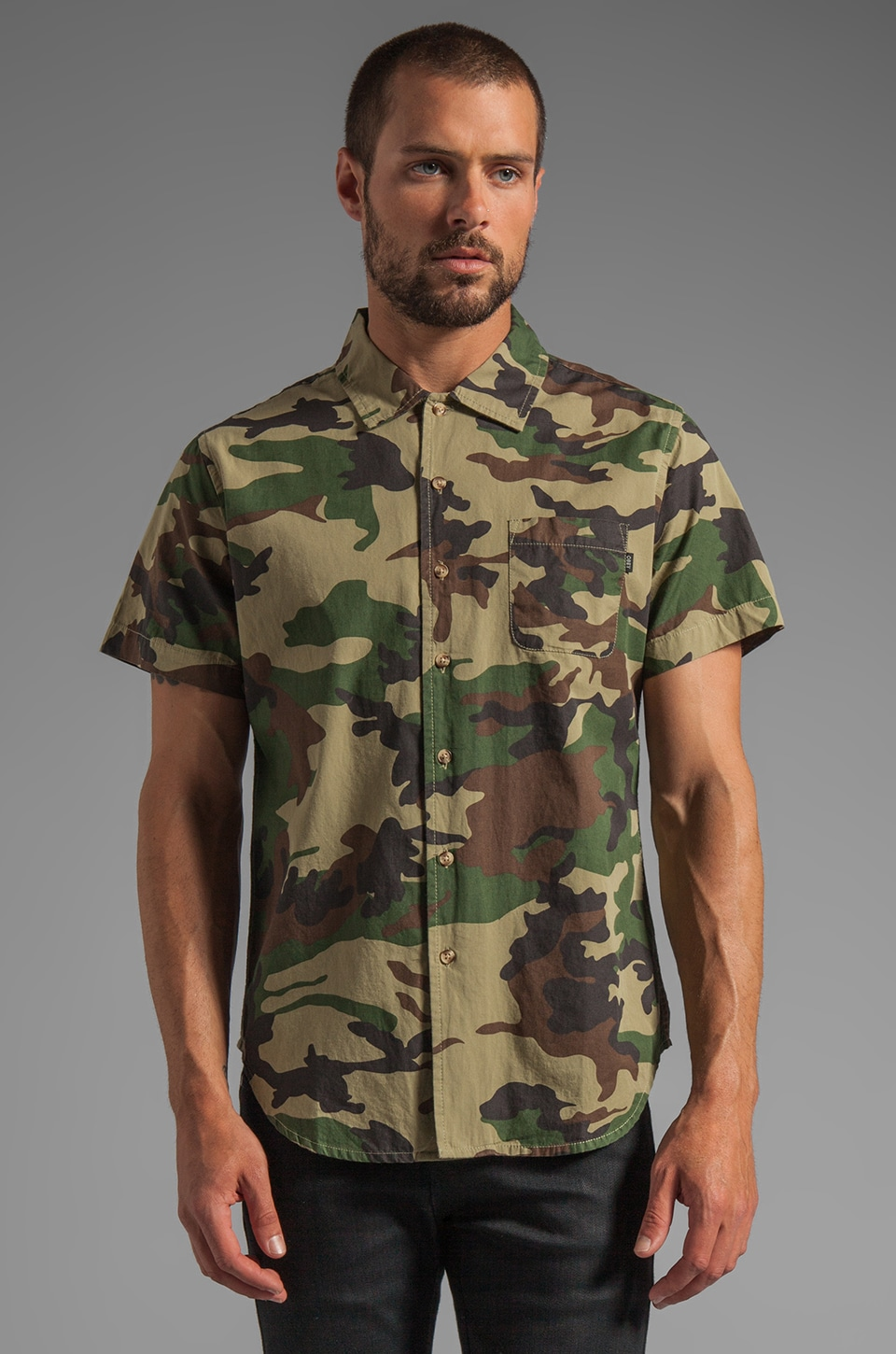 Obey Destroyer S/S Shirt in Field Camo