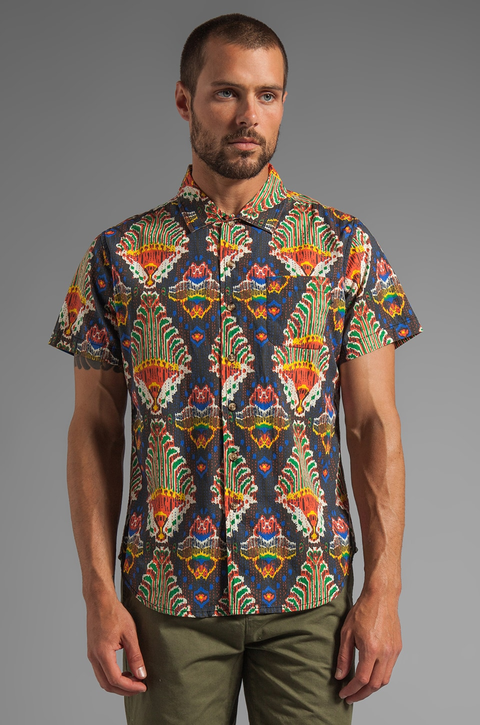 Obey Kasbah S/S Shirt in Black