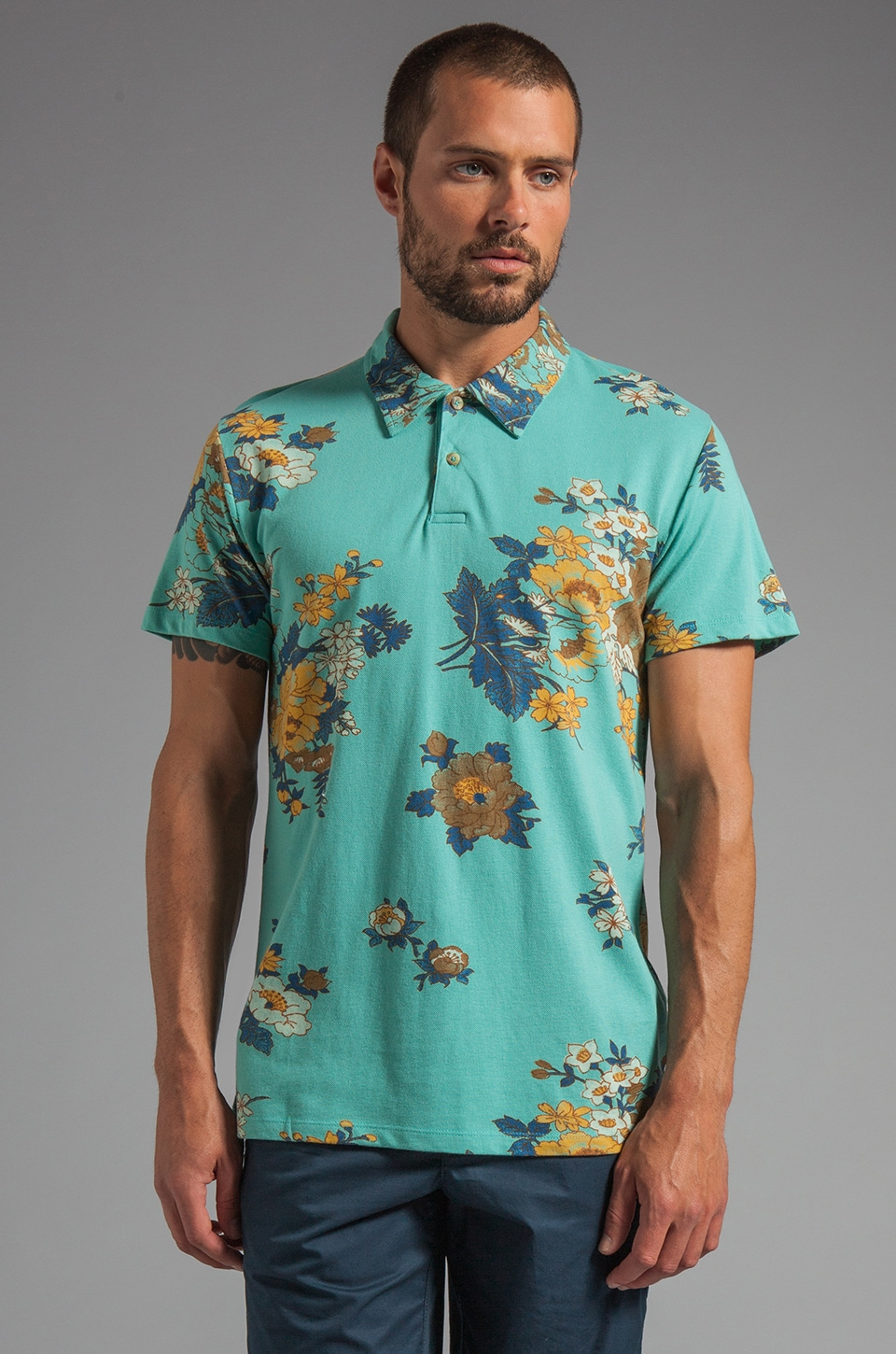 Obey Vacation Polo in Canton Blue