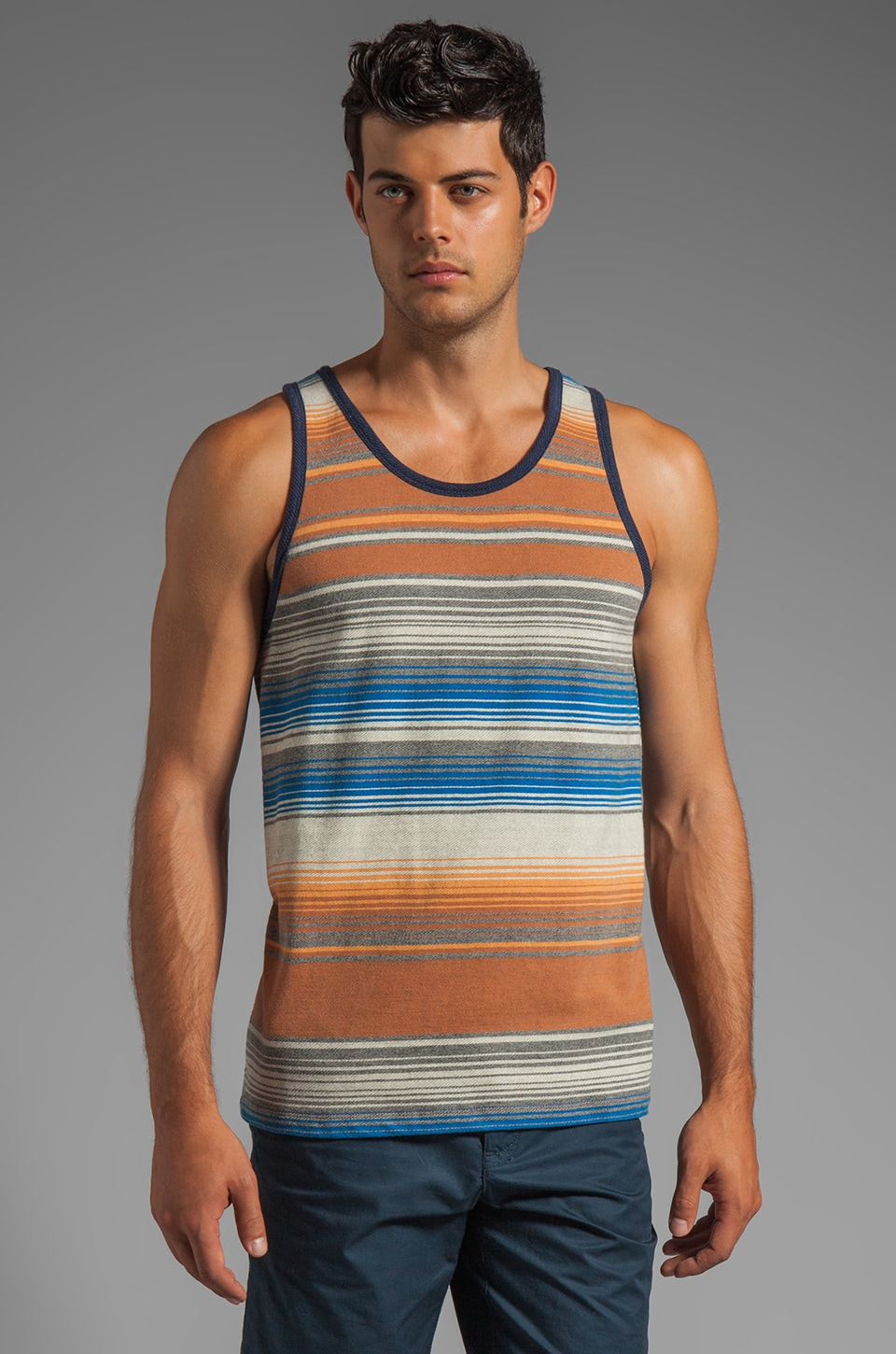 Obey Tulum Tank in Pecan Brown