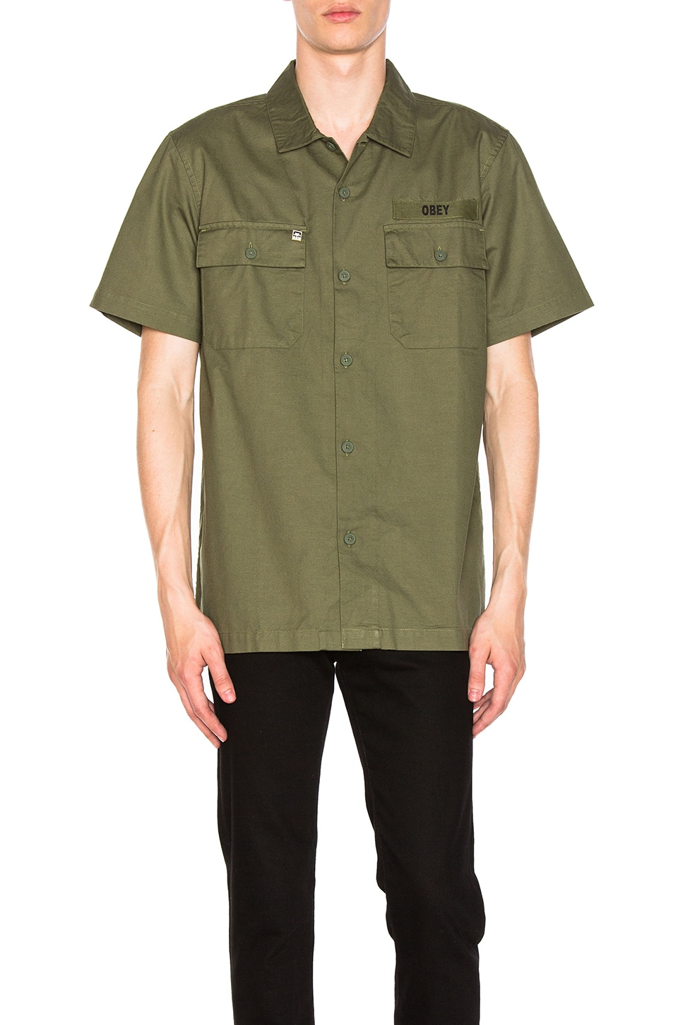 Mission Military Button Down by Obey