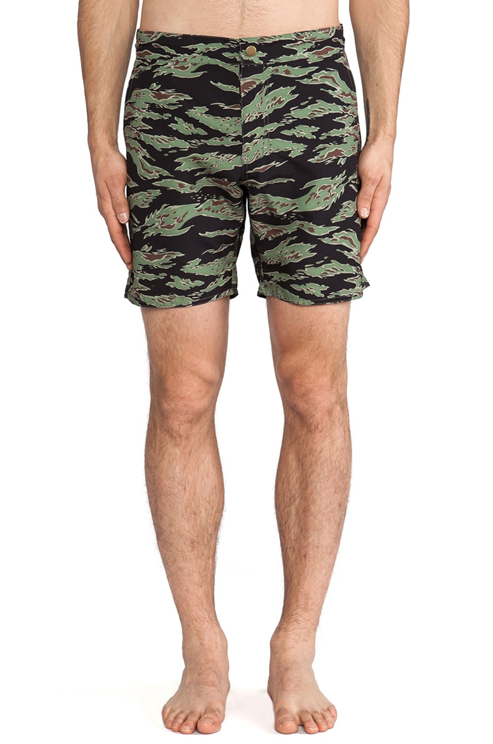 Obey Enlisted Street Trunk in Tiger Camo