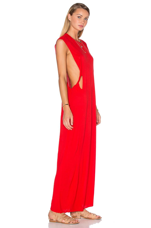 Long dress maroon obey