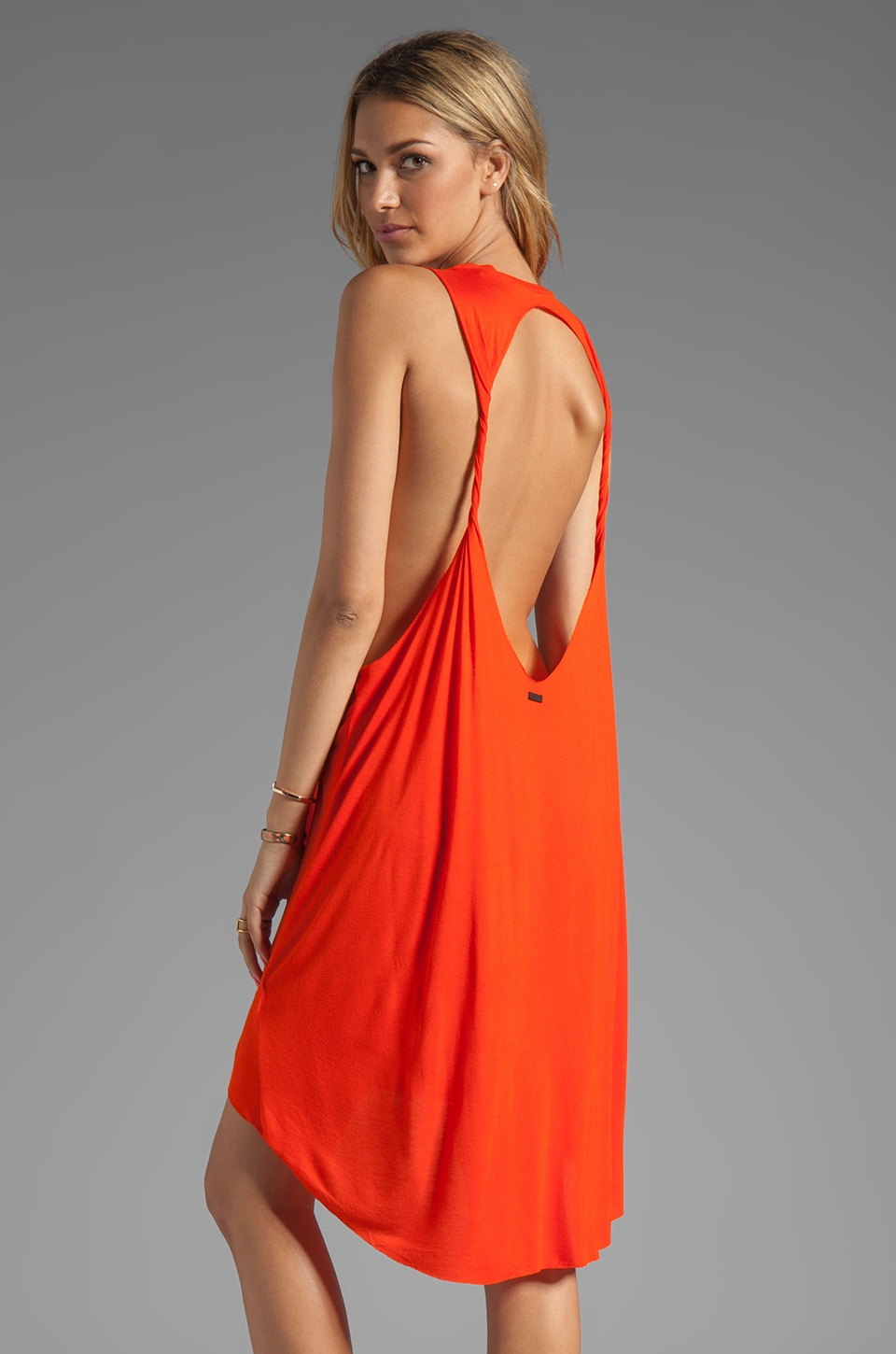 Obey Outlaw Dress in Spicy Orange