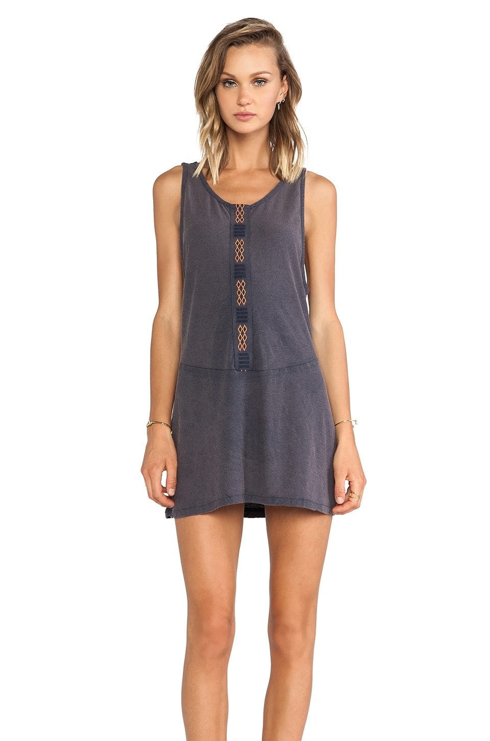 Obey Harper Dress in Indigo
