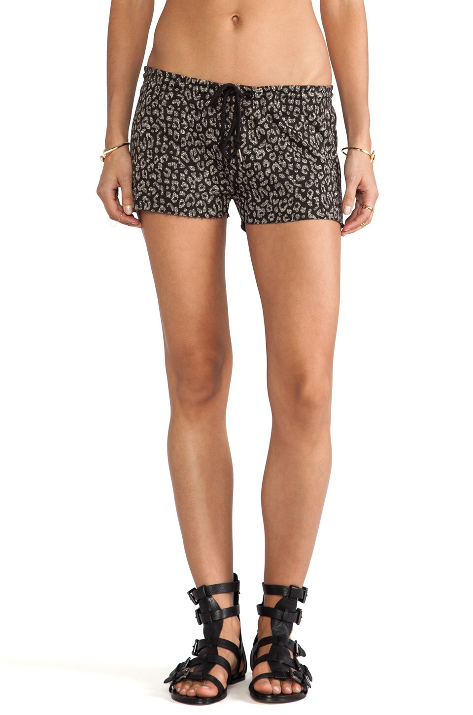 Obey Lola Sweatshorts in Jet Black
