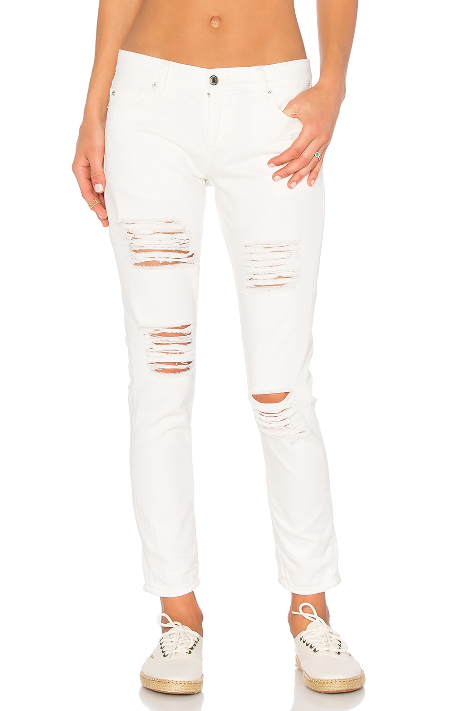 Obey Ex-Boyfriend Denim Pant in Antique White