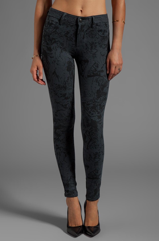 Obey Lean & Mean Printed Skinny Jeans in Dark Slate