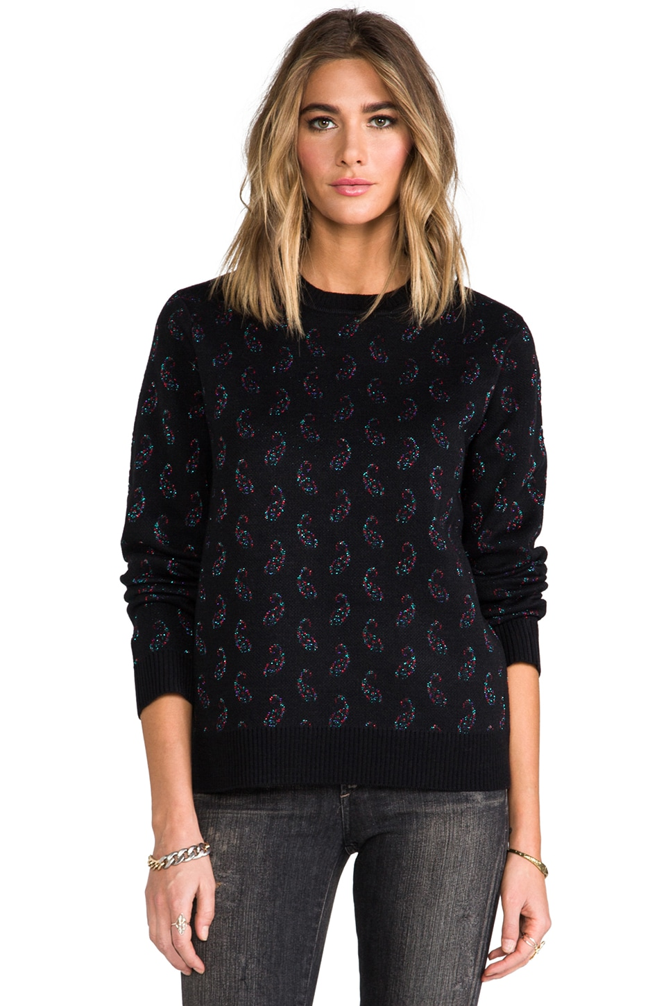 Obey Wasteland Crew Sweater in Black