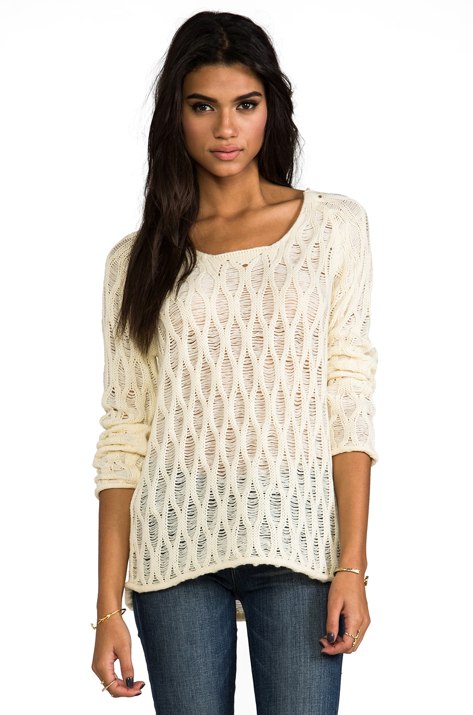 Obey Running Wild Sweater in Cream