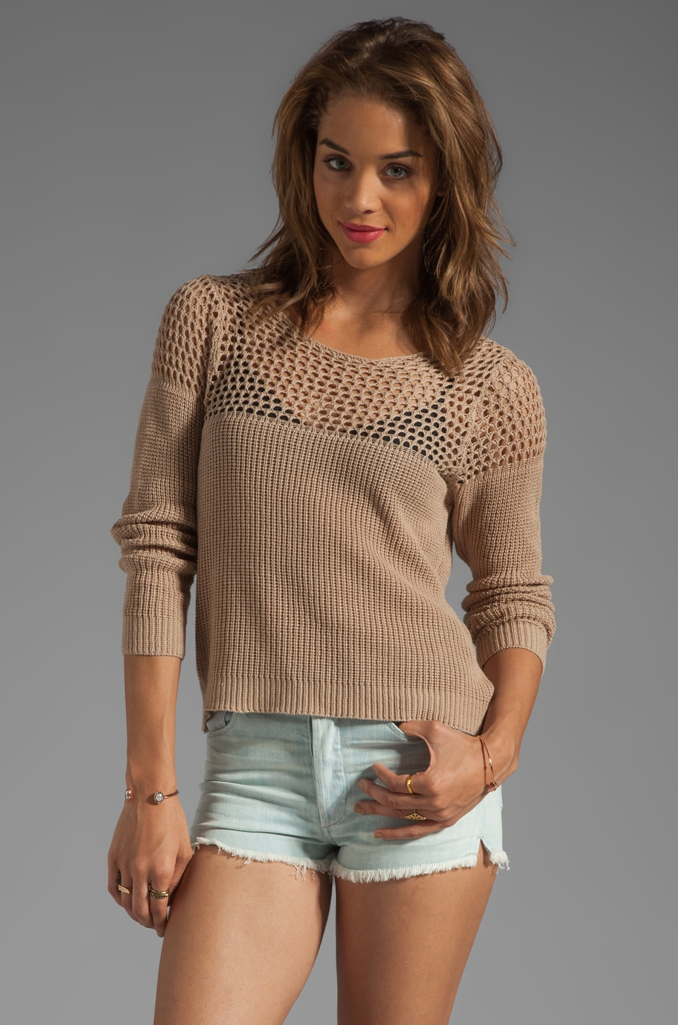 Obey Summer Breeze Sweater in Oatmeal