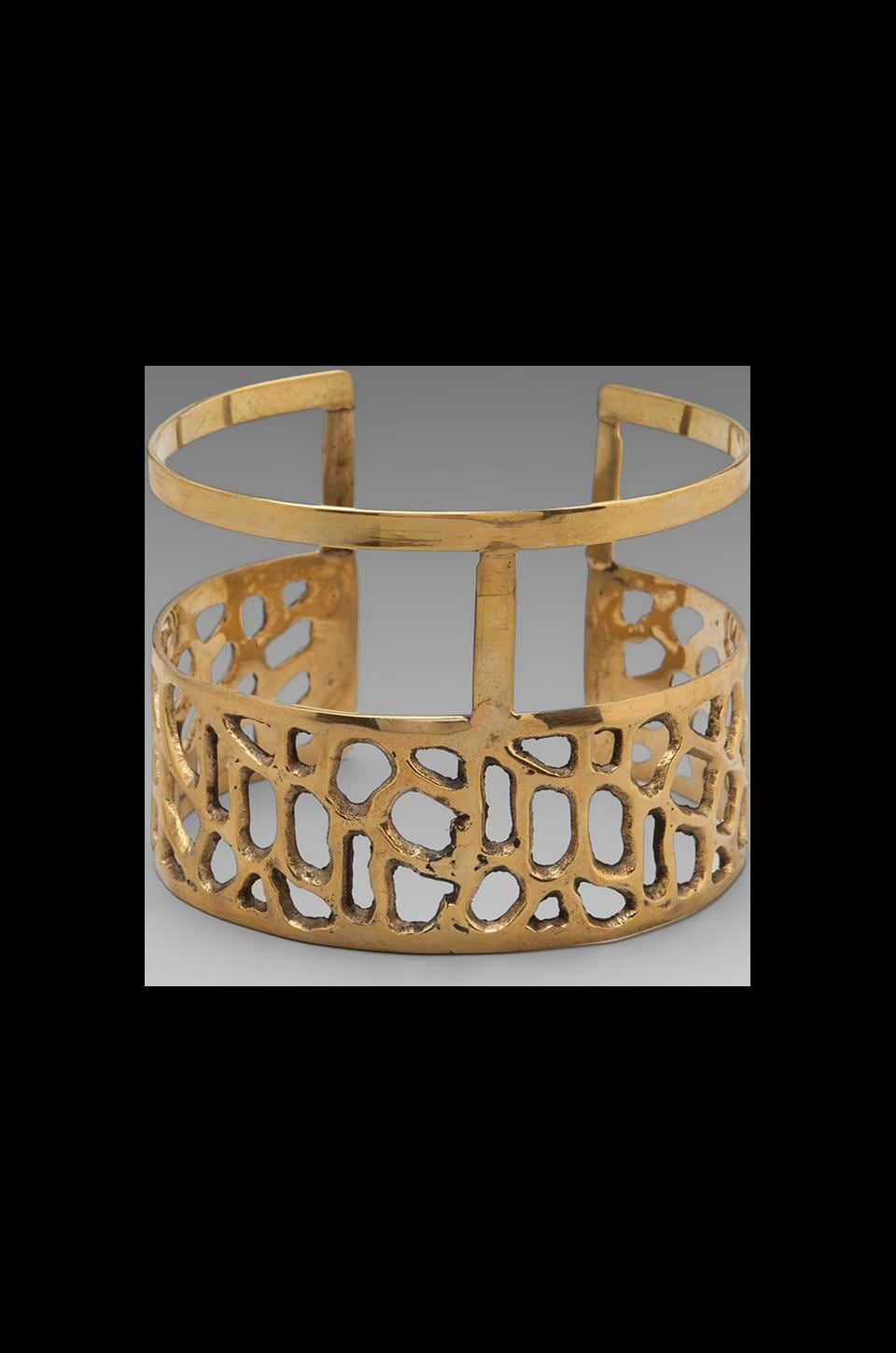 Obey Crossroads Upper Arm Cuff in Antique Gold
