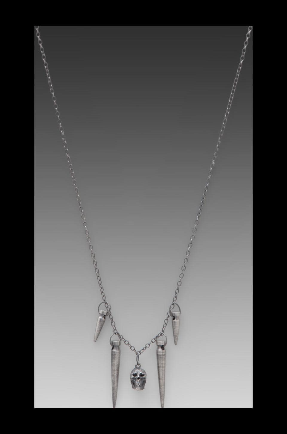 Obey Slay Necklace in Silver Oxidize