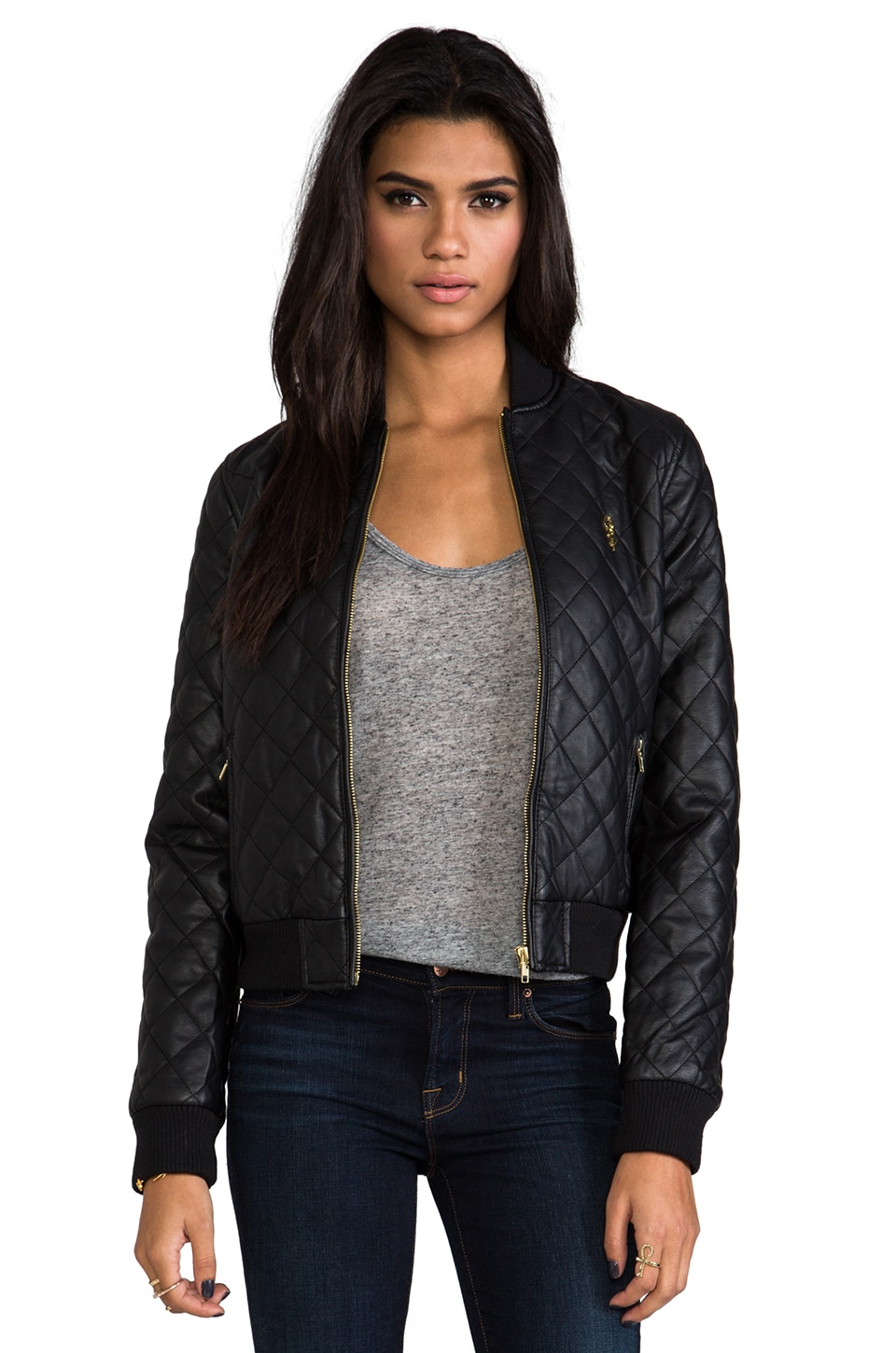 Obey Riot Squad Bomber Jacket in Black