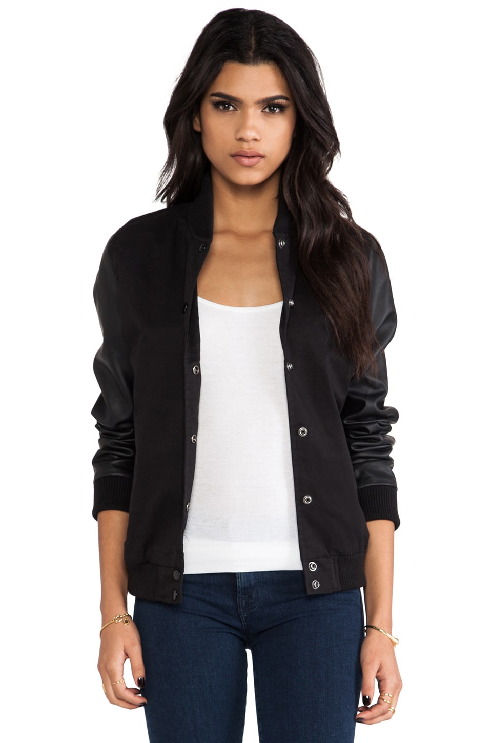 Obey Springtime Drop Out Jacket in Black