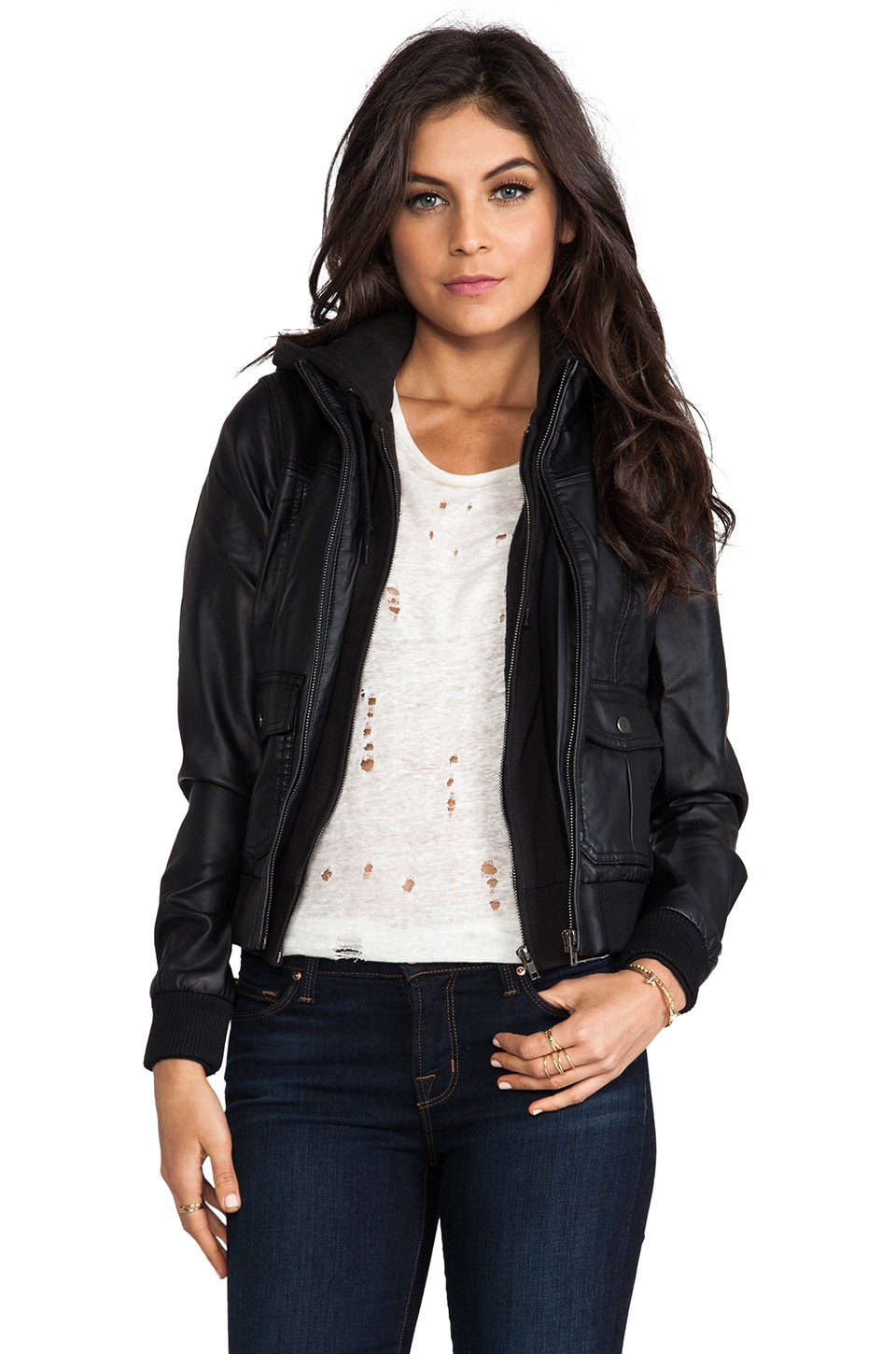 Obey Jealous Lover Jacket in Black