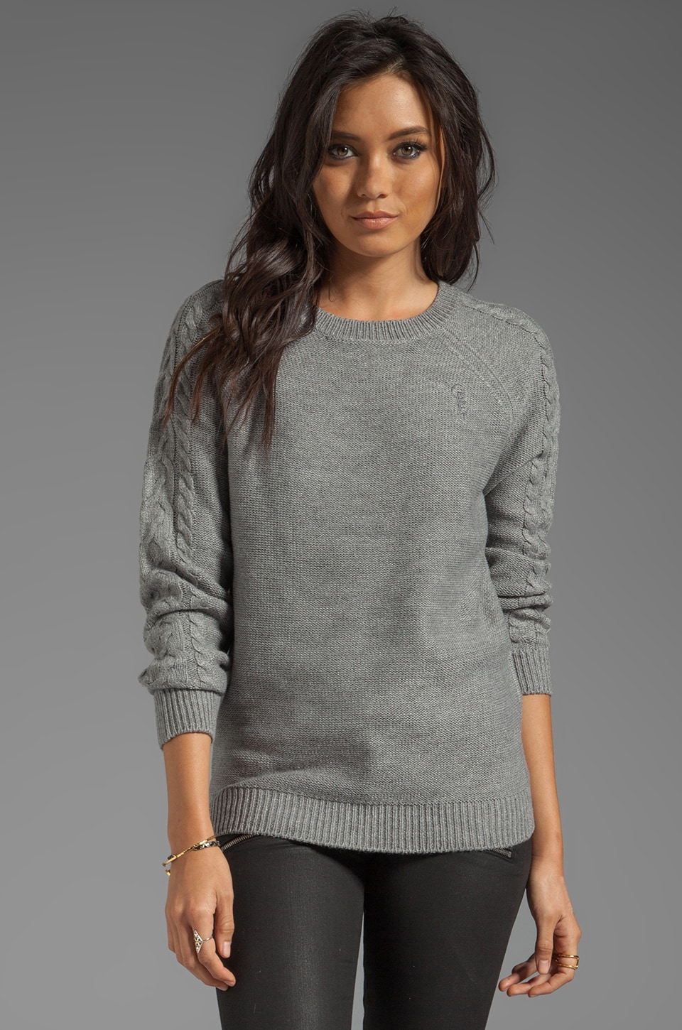 Obey Nottingham Sweater in Heather Grey